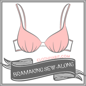 Learn to make a bra in the Bra-making Sew Along at Cloth Habit