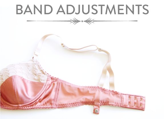 Learn how to make common adjustments to a bra band and bridge for an underwired bra pattern | Bra-making Sew Along
