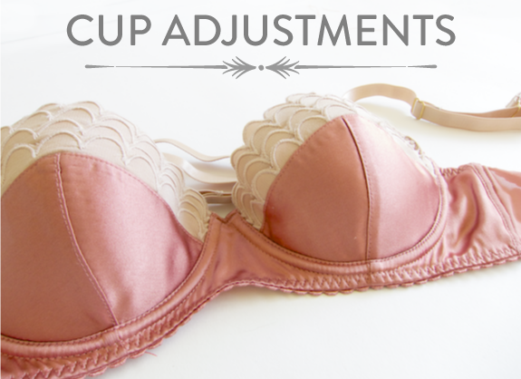bra cup adjustments | Bra-making Sew Along at Cloth Habit