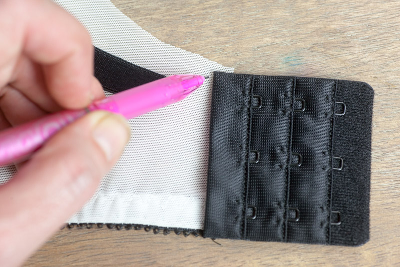 attaching bra straps | Watson Sew Along