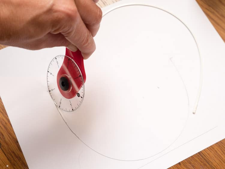 Measuring an underwire length