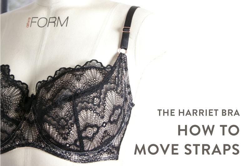 Harriet Bra strap adjustment tutorial | Cloth Habit